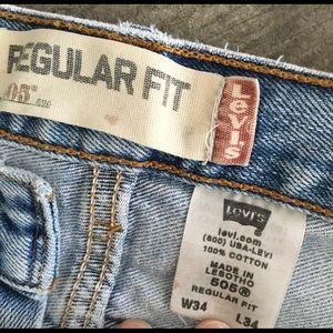 Levi's Jeans - Levi's 505 Regular Fit👖'Distressed Painter' 34x34